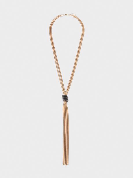 Oferta de Collar Largo Nudo Con Cristales por 5,99€