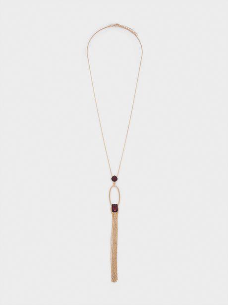 Oferta de Collar Largo Dorado Colgante por 4,99€