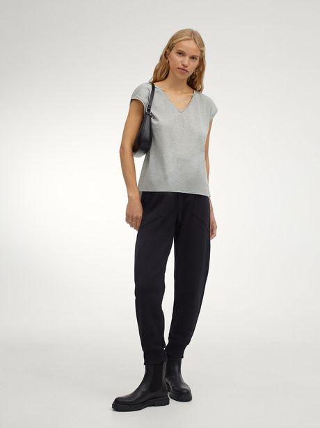 Oferta de Camiseta De Lurex Con Cuello De Pico por 12,99€