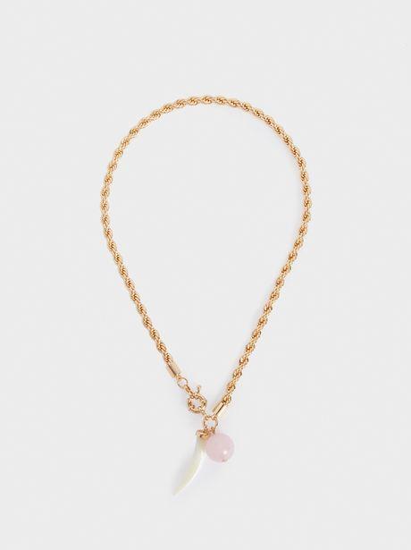 Oferta de Collar Corto Dorado Con Cuerno por 6,49€