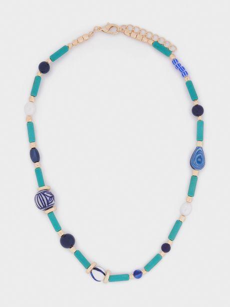 Oferta de Collar Corto Piedras Y Abalorios por 4,99€