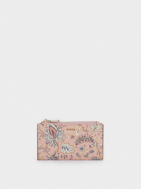 Oferta de Cartera Compacta Estampado Floral por 12,99€