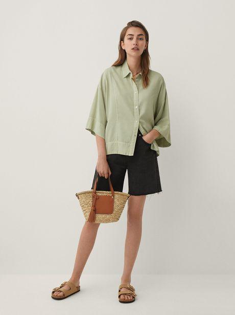 Oferta de Camisa Oversize Lisa por 25,99€