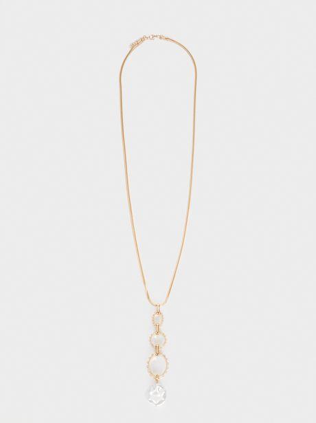 Oferta de Collar Largo Con Perla Dorado por 6,49€