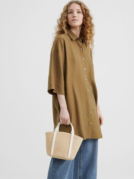 Oferta de Bolso Shopper Textura Raffia por 9,99€
