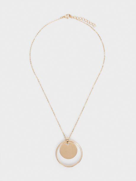 Oferta de Collar Corto Medallón Dorado por 4,99€