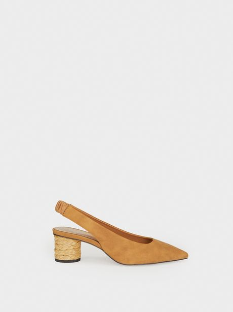 Oferta de Zapato De Tacón Destalonado Rafia por 15,99€