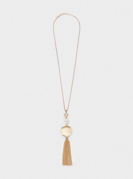 Oferta de Collar Cadena Largo Con Borla por 4,99€