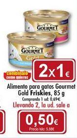 Oferta de Comida para gatos Gourmet Gold Friskies por 0,5€