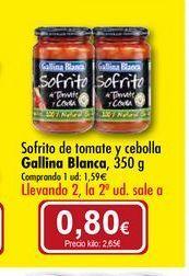 Oferta de Sofrito de tomate y cebolla Gallina Blanca por 1,59€