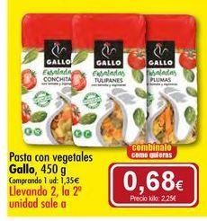 Oferta de Pasta con vegetales Gallo por 1,35€