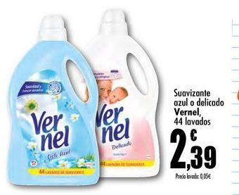 Oferta de Suavizante azul o delicado Vernel por 2,39€