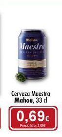 Oferta de Cerveza Maestra Mahou por 0,69€