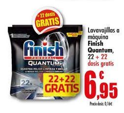 Oferta de Lavavajillas a máquina Finish Quantum por 6,95€