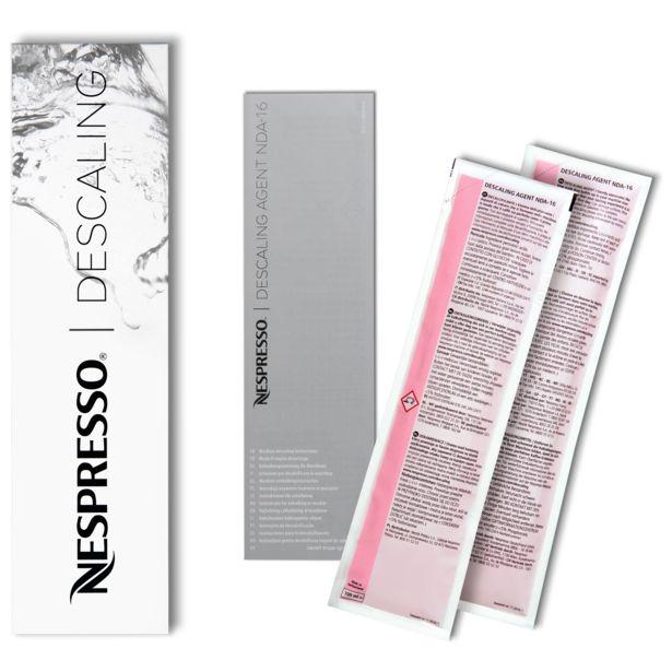 Oferta de Set de 2 kits de descalcificación para máquinas Nespresso por 12€