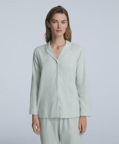 Oferta de Camisa manga larga 100% algodón pata de gallo por 19,99€