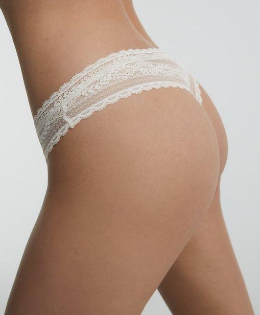 Oferta de Tanga corte V encaje soft lace floral por 7,99€