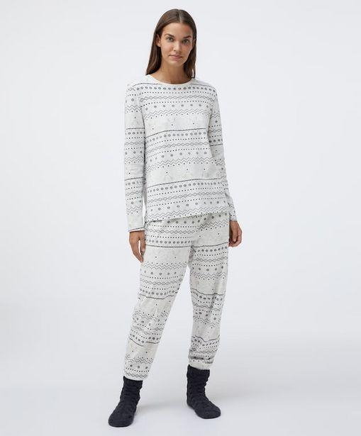 Oferta de Pack pijama algodón jacquard por 12,99€