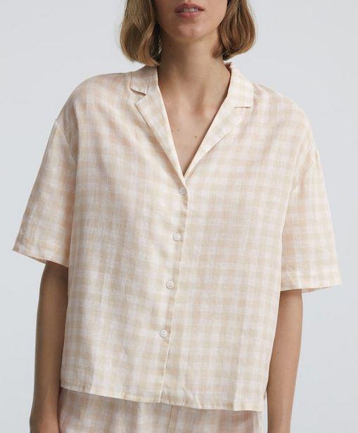 Oferta de Camisa corta vichy lino por 22,99€