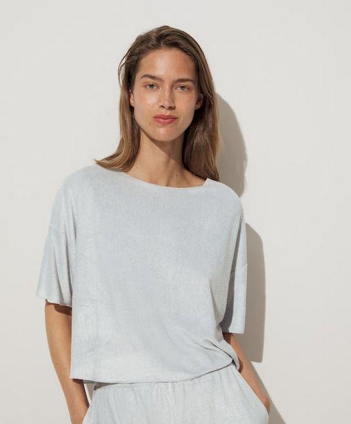 Oferta de Camiseta corta tejido terry por 15,99€
