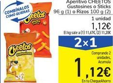 Oferta de Aperitivo CHEETOS Gustosines o Sticks o Rizos  por 1,12€