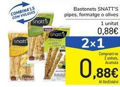 Oferta de Palitos SNATT'S pipas, queso u olivas por 0,88€