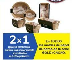 Oferta de En TODOS los moldes de papel de horno de la serie GOLD+CACAO por