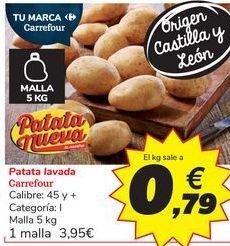 Oferta de Patata lavada Carrefour por 3,95€