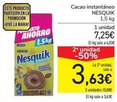 Oferta de Cacao instantáneo NESQUIK por 7,25€