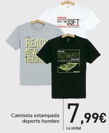 Oferta de Camiseta estampada deporte hombre  por 7,99€