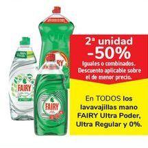 Oferta de En TODOS los lavavajillas mano FAIRY Ultra Poder, Ultra Regular y 0% por