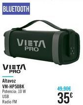 Oferta de Altavoz WM-HP50BK Vieta Pro  por 35€