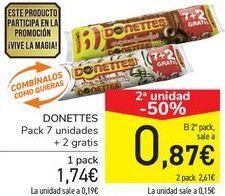 Oferta de DONETTES por 1,74€