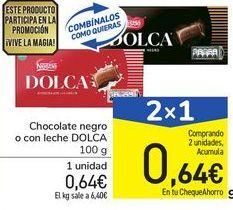 Oferta de Chocolate negro o con leche DOLCA por 0,64€