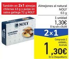 Oferta de Almejones al natural NOLY por 1,3€