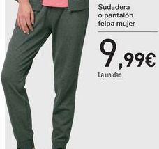 Oferta de Sudadera o pantalón felpa mujer  por 9,99€