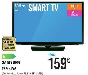 Oferta de TV 24N4305 SAMSUNG por 159鈧�