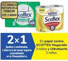 Oferta de En papel de cocina SCOTTEX Megarollo y Ultrafuerte por