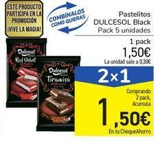 Oferta de Pastelitos DULCESOL Black por 1,5€