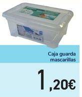 Oferta de Caja guarda mascarillas por 1,2€