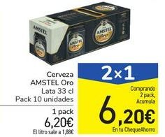 Oferta de Cerveza AMSTEL Oro por 6,2€