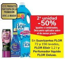 Oferta de En suavizantes FLOR, FLOR Elixir y Perfumador liquido FLOR Deluxe por