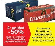 Oferta de En cerveza EL ÁGUILA o CRUZCAMPO Especial  por