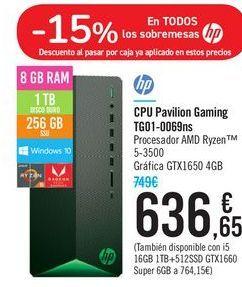 Oferta de CPU Pavilion Gaming TG01-0069NS Hp por 636,65鈧�