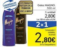 Oferta de Geles MAGNO por 2,8€