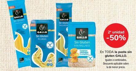 Oferta de En TODA la pasta sin gluten GALLO, iguales o combinados  por