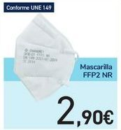 Oferta de Mascarilla FFP2 NR por 2,9€