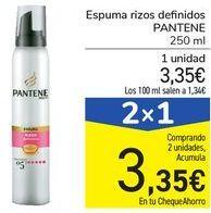 Oferta de Espuma rizos definidos PANTENE por 3,35€
