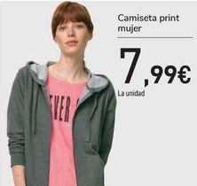 Oferta de Camiseta print mujer  por 7,99€