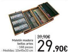 Oferta de Maletín madera bellas artes  por 29,9€